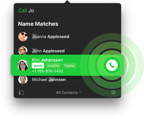 Call contacts